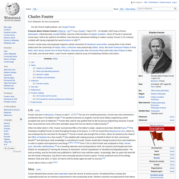 Charles Fourier - Wikipedia