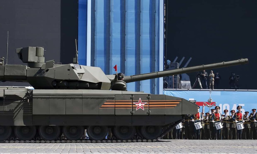 Russia's Armata T-14 battle tank can autonomously fire on targets and is expected to be fully autonomous in the near future. Photograph: Grigory Dukor/Reuters