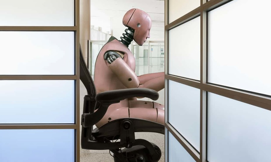 A report has estimated that 30% of UK jobs are under threat from breakthroughs in AI. Photograph: Blend Images/Alamy