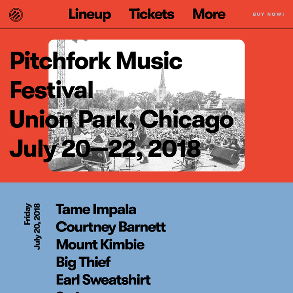 Pitchfork Music Festival Chicago 2018