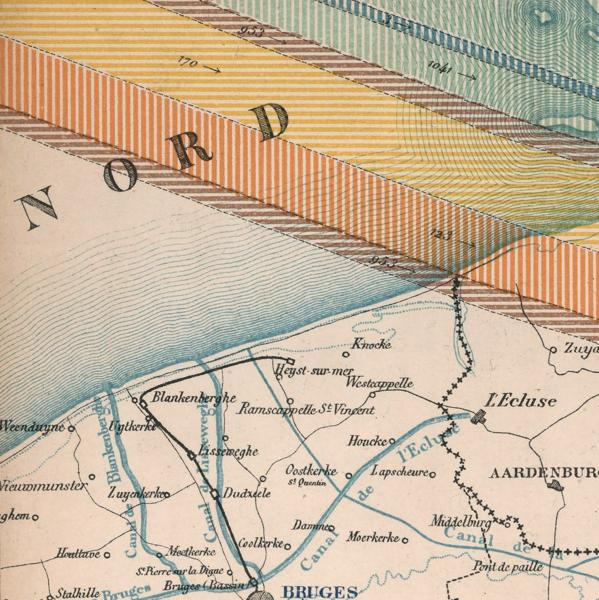 Carte de la production, de la circulation, de la consommation des minerais et de la production des metaux en Belgique