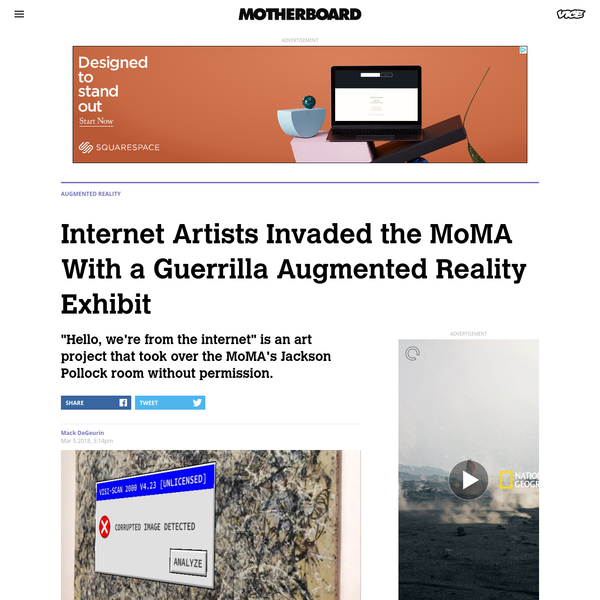 Internet Artists Invaded the MoMA With a Guerrilla Augmented Reality Exhibit