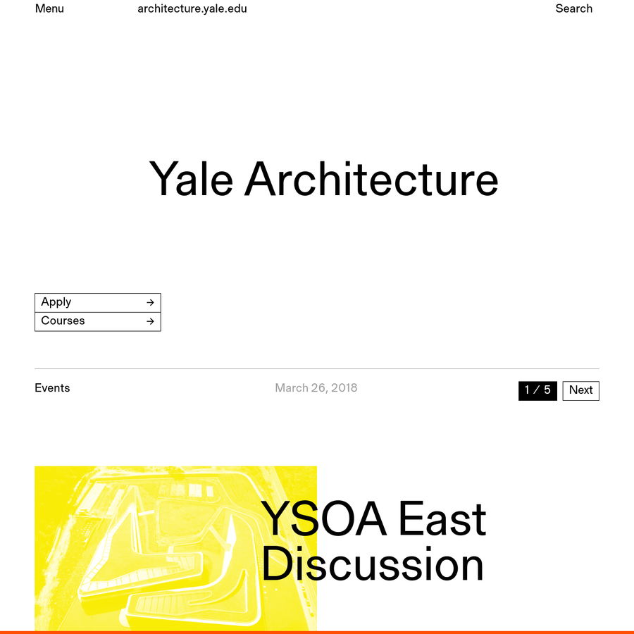 The Yale School of Architecture is dedicated to educating the next generation of leading architects and designers of the built environment.