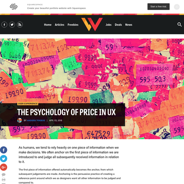 The Psychology of Price in UX | Webdesigner Depot