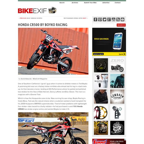 Honda CR500 by Boyko Racing