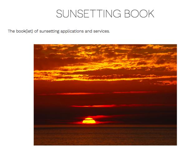 Sunsetting Book