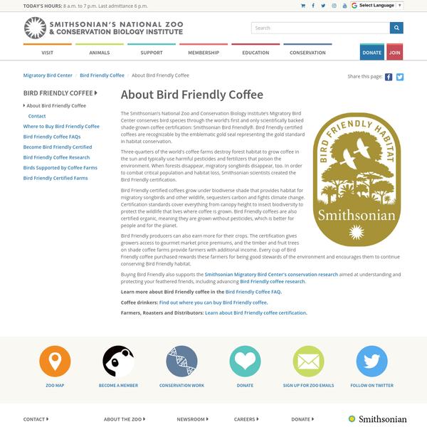 About Bird Friendly Coffee