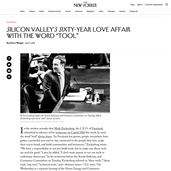 """Silicon Valley's Sixty-Year Love Affair with the Word """"Tool"""""""
