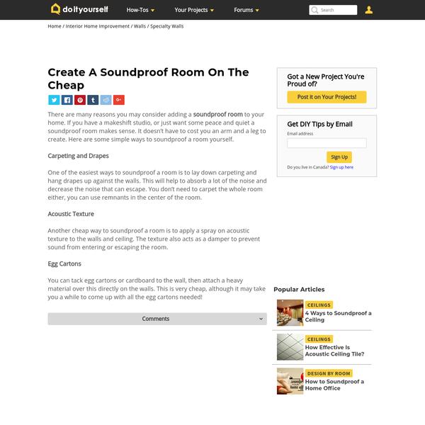 Create A Soundproof Room On The Cheap | DoItYourself.com