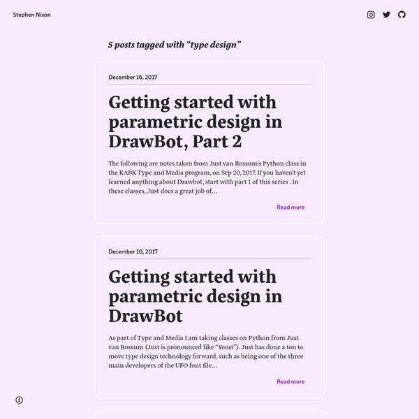 Stephen Nixon's Design Blog
