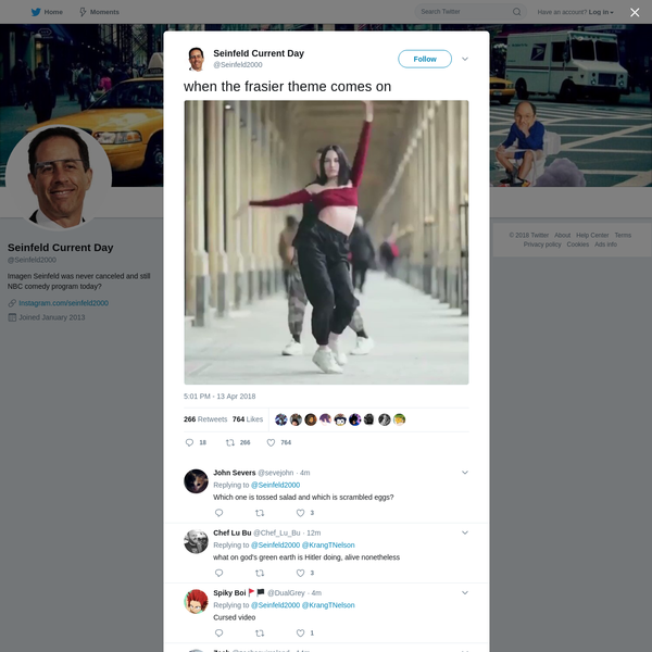 Seinfeld Current Day on Twitter
