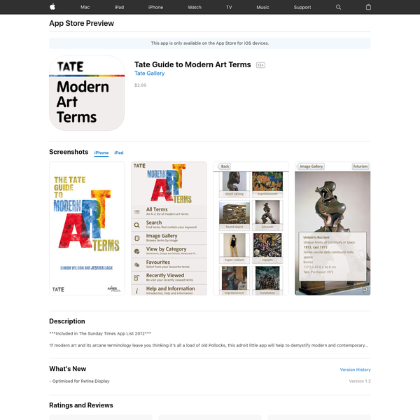 Tate Guide to Modern Art Terms on the App Store