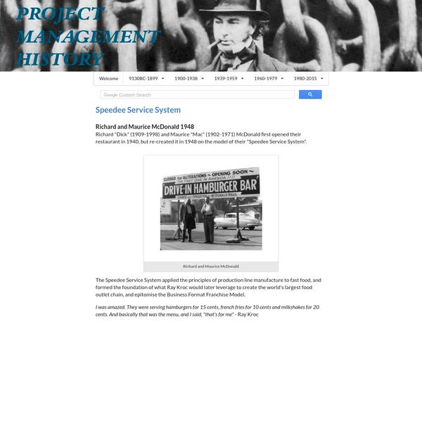 Speedee Service System | Richard and Maurice McDonald 1948