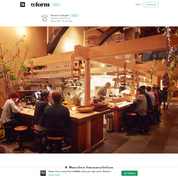 The design and aesthetics behind Japanese cuisine A few weeks ago I was sitting with Sylvan Mishima Brackett, chef and owner of the recently opened San Francisco restaurant Rintaro; the restaurant's name means woods-boy in Japanese.