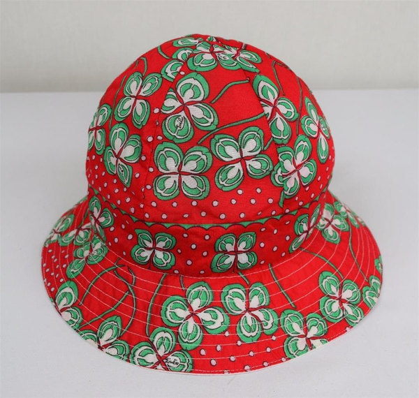 Vintage 1960's Emilio Pucci Sun Beach Bucket Flower Print Summer Women's Hat Size 7 Medium - $125.00 USD