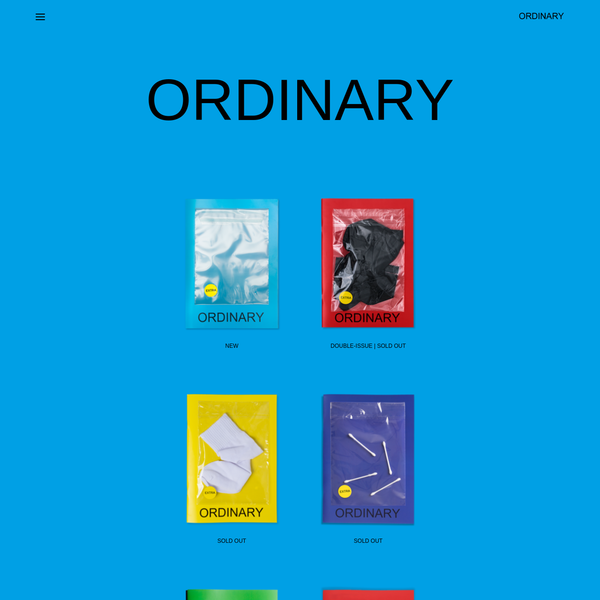 ORDINARY - Ordinary is a quarterly fine art photography magazine featuring over 20 artists from around the world who ...