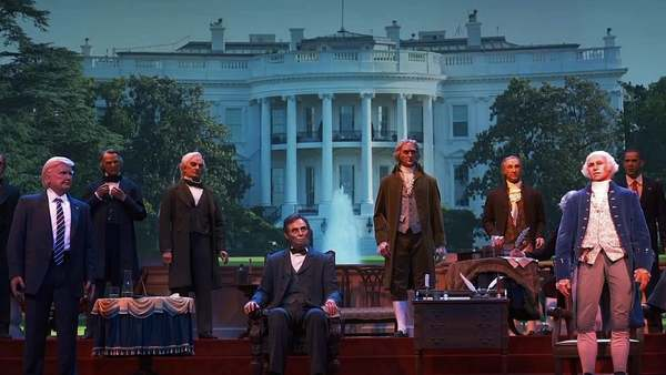 The animatronic Hall of Presidents at Disney thing, painstakingly edited and published long after the 6-hour fad of making fun of the original footage had ended.