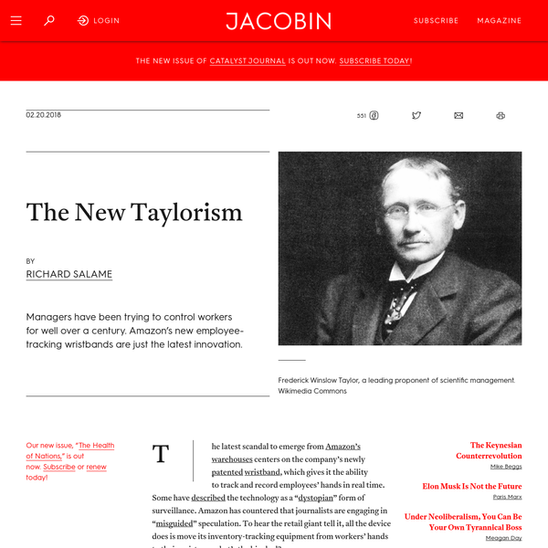 The New Taylorism