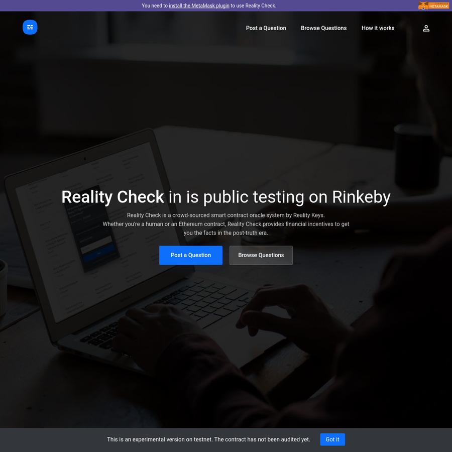 Reality Check (Testnet)