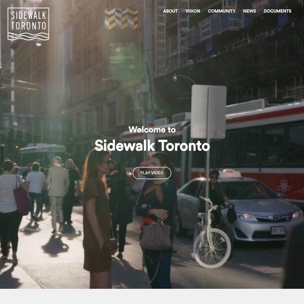 Sidewalk Toronto - Home