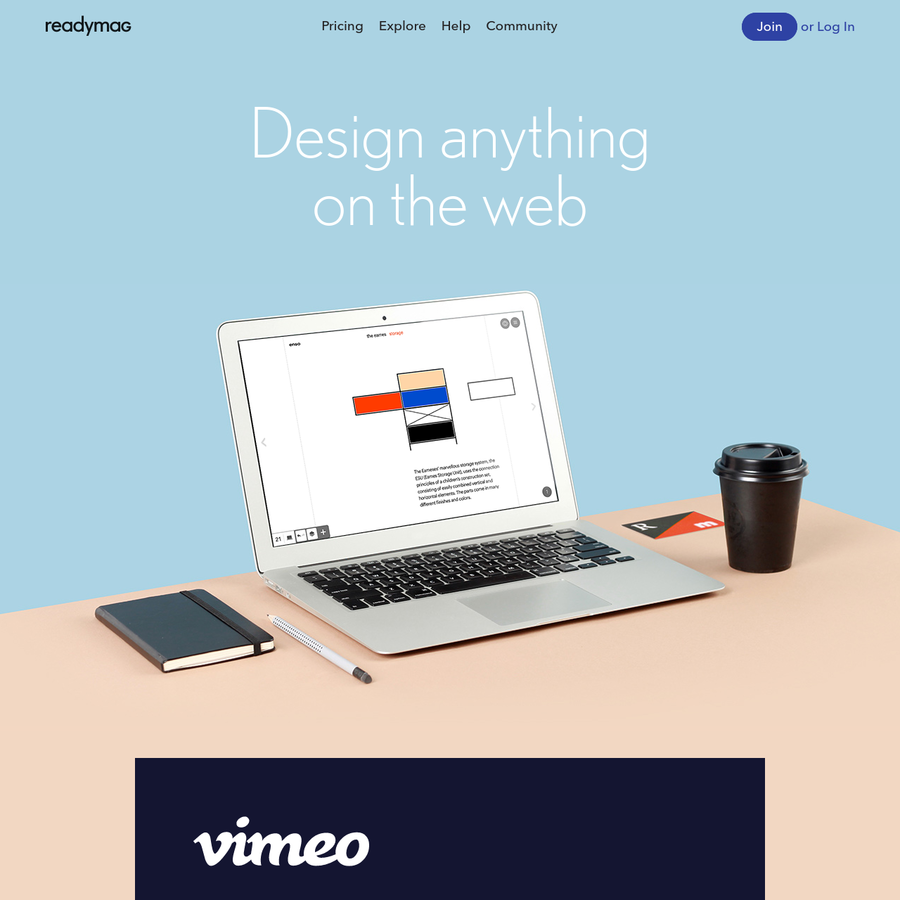 Readymag is an online design tool which helps creative professionals to easily create microsites, portfolios, presentations, digital magazines and more.