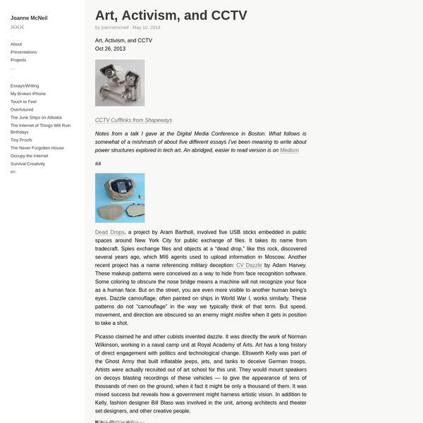 Art, Activism, and CCTV