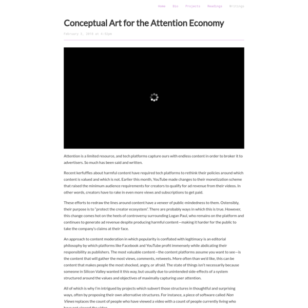 Conceptual Art for the Attention Economy
