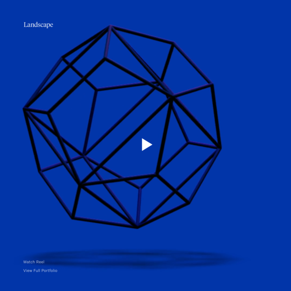 Landscape - An independent design studio, focused on experience, product & identity. Based in San Francisco, California.