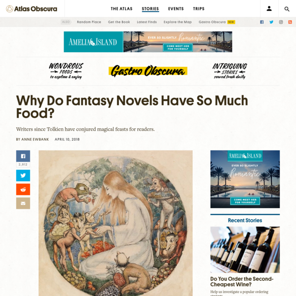 Why Do Fantasy Novels Have So Much Food?
