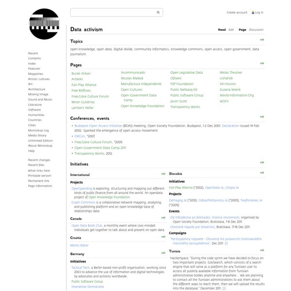 Data activism - Monoskop