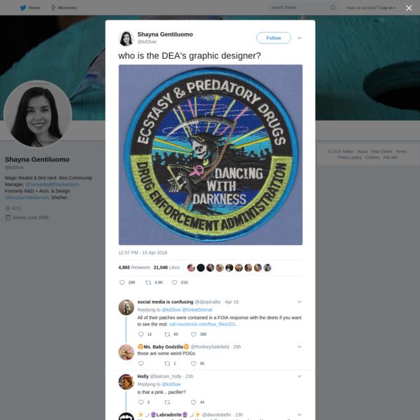 who is the DEA's graphic designer?