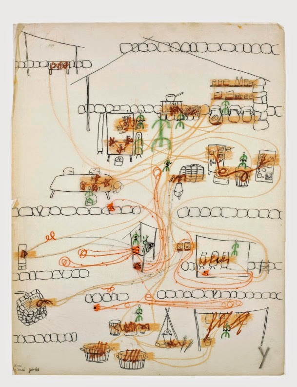 Cartes et lignes d'erre, Paris, L'Arachnéen. Archives Fernand Deligny.