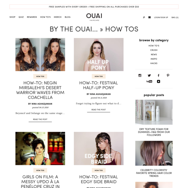 "OUAI BLOG - tagged ""how tos"""