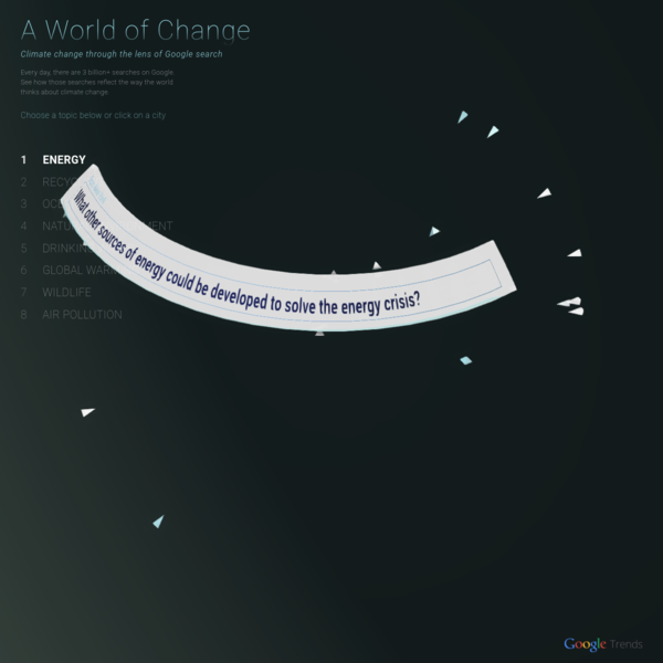 A World of Change: Climate change through the lens of Google search