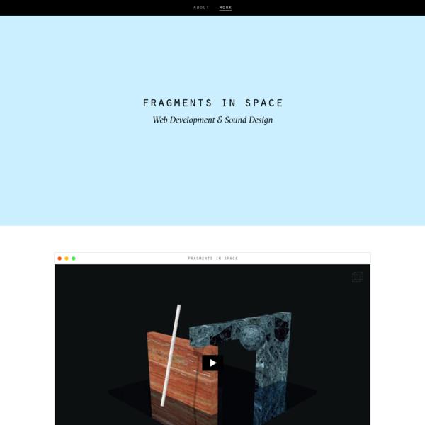 Portfolio of freelance web designer and developer in Berlin.