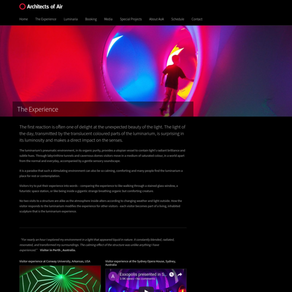 Architects of Air luminarium. An inclusive experience for all