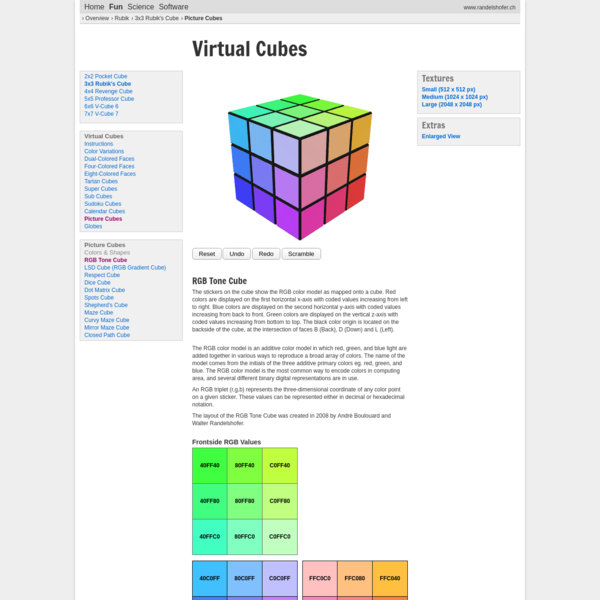 Virtual Cubes Rubik's Cube | Picture Cubes | RGB Tone Cube