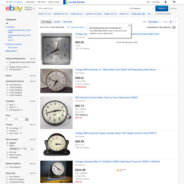 Find great deals on eBay for ibm wall clock and ibm clock. Shop with confidence.
