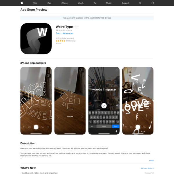 Weird Type on the App Store