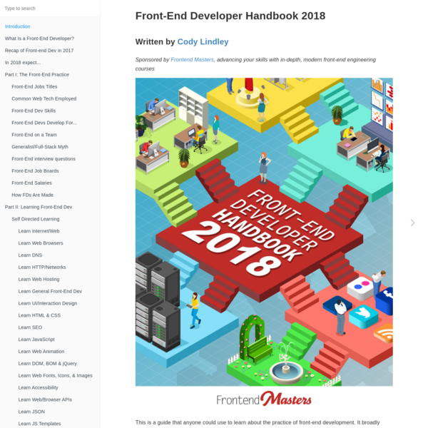 Front-End Developer Handbook 2018 - Learn the entire JavaScript, CSS and HTML development practice!