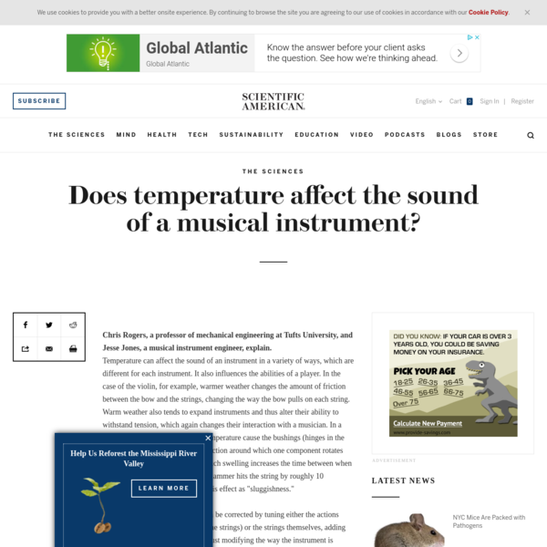 Does temperature affect the sound of a musical instrument?