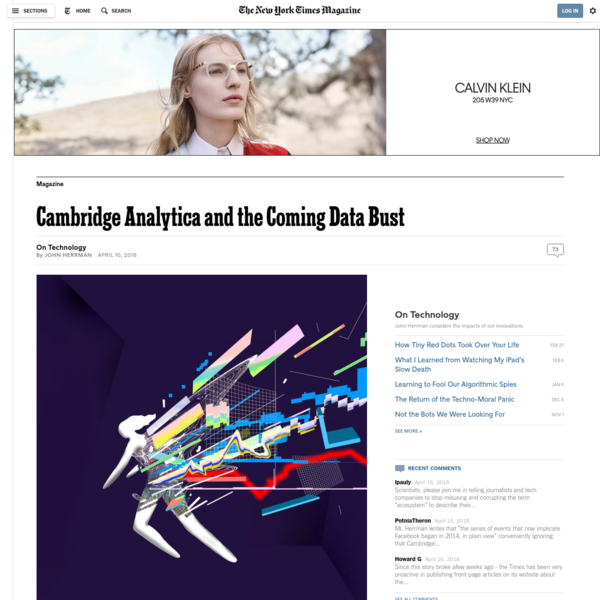 Cambridge Analytica and the Coming Data Bust