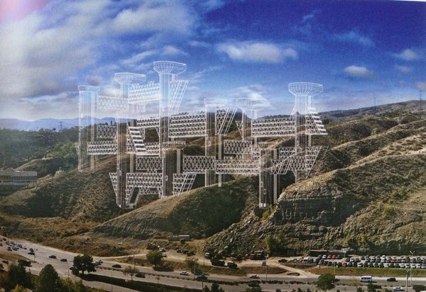 Unrealized proposal for another Space City on the outskirts of Tbilisi, 2006