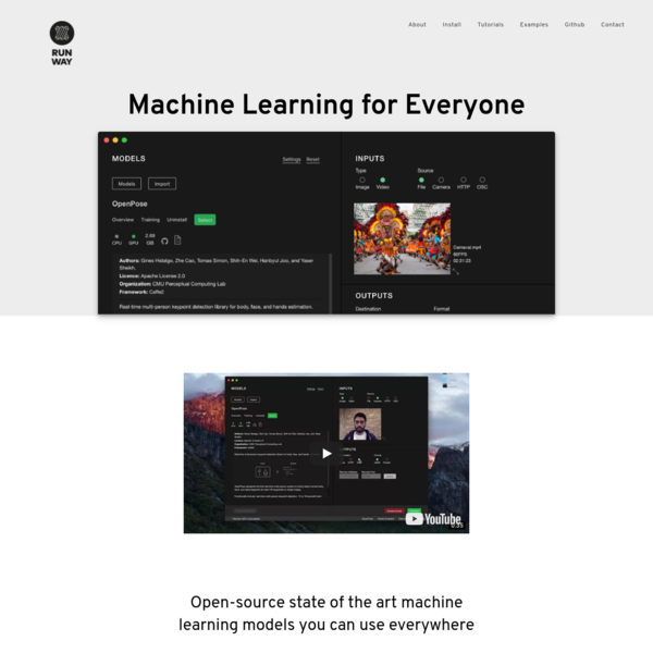 Run open-source state of the art machine learning models and use them everywhere