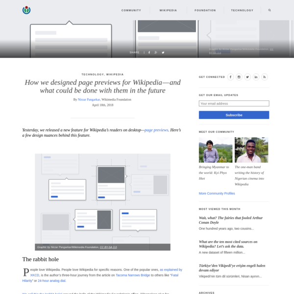 How we designed page previews for Wikipedia-and what could be done with them in the future
