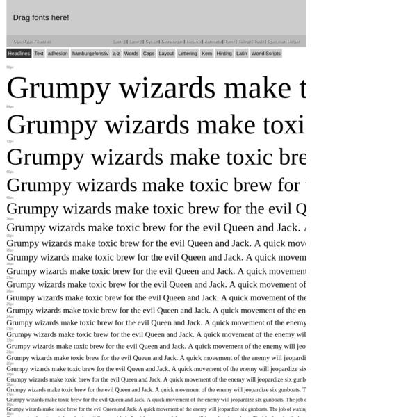 Font Testing Page - Latin Version