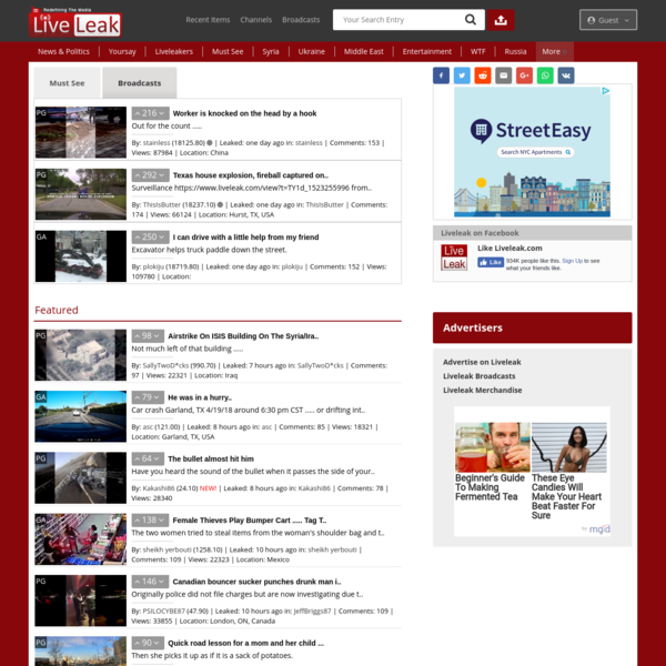 LiveLeak.com - Redefining the Media