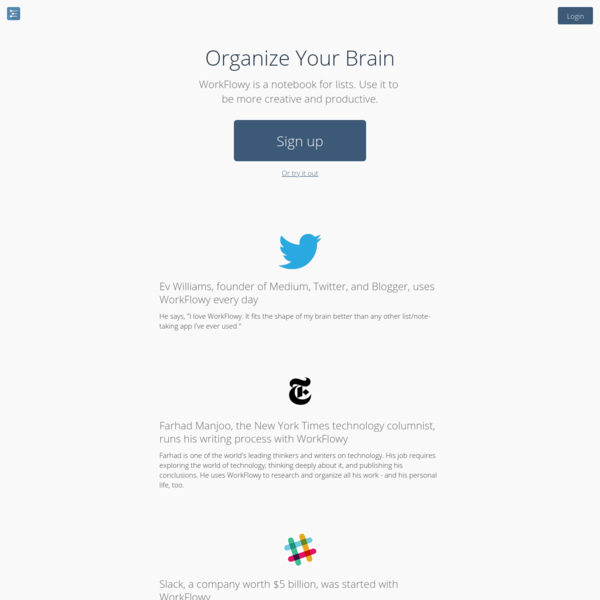A simple way to organize your brain.
