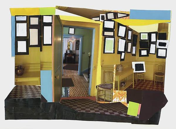 MICKALENE THOMAS Monet's Salle à Manger Jaune, 2011 mixed media collage 13.25 x 19.25 inches (paper) 33.7 x 48.9 cm 21.25 x 27 inches (framed) 54 x 68.6 cm