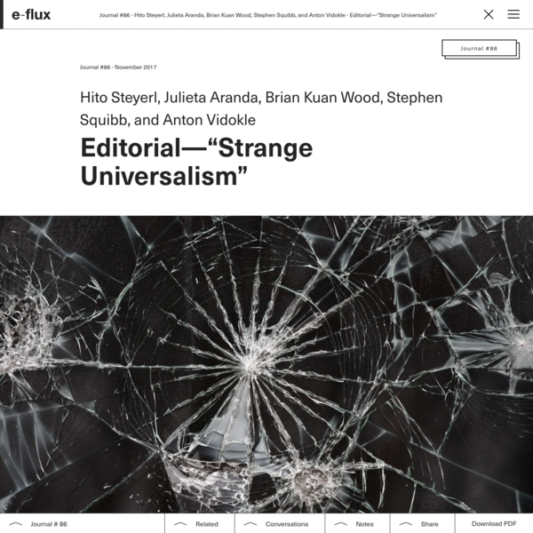 "Editorial-""Strange Universalism"""